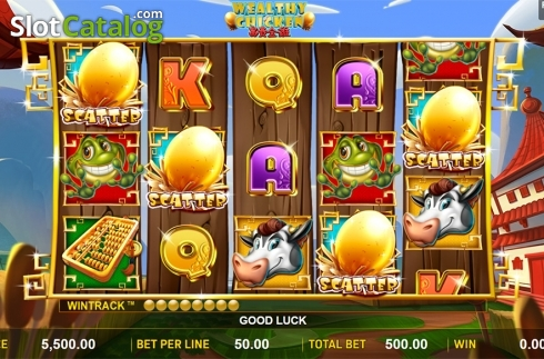 Schermo3. Wealthy Chicken (Video Slot a partire dal Aspect Gaming)