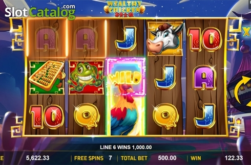 Schermo5. Wealthy Chicken (Video Slot a partire dal Aspect Gaming)