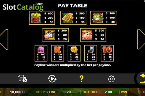 Schermo7. Wealthy Chicken (Video Slot a partire dal Aspect Gaming)