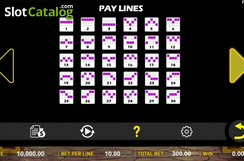 Paytable 4. Jin Qian Bao (Video Slot from Aspect Gaming)