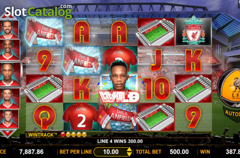 Win Screen 1. Liverpool Football Club Slots (Video Slots from Aspect Gaming)