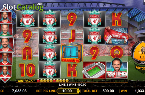 Win Screen 2. Liverpool Football Club Slots (Video Slots from Aspect Gaming)