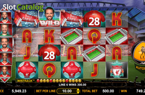 Win Screen 3. Liverpool Football Club Slots (Video Slots from Aspect Gaming)