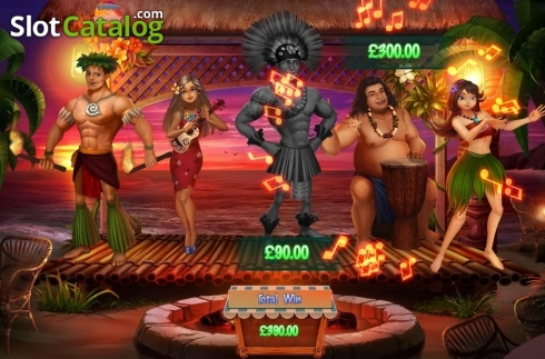 Bonus Game Screen 2. Ticket to Paradise (Video Slot from Asylum Labs Inc.)