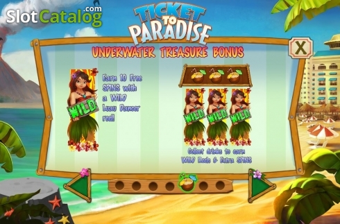Free Spins Expanding Wild. Ticket to Paradise (Video Slot from Asylum Labs Inc.)