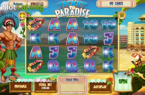 Reel Screen. Ticket to Paradise (Video Slot from Asylum Labs Inc.)