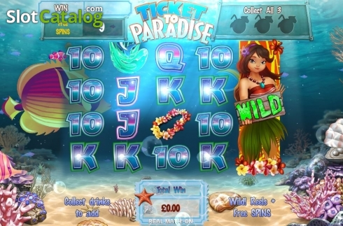 Free Spins Reels. Ticket to Paradise (Video Slot from Asylum Labs Inc.)