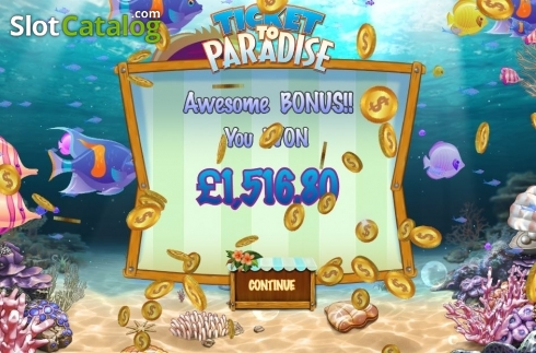Free Spins Win. Ticket to Paradise (Video Slot from Asylum Labs Inc.)
