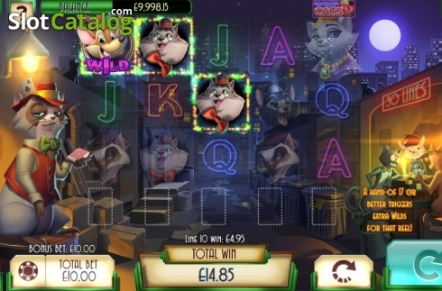 Win Screen 2. Blackjack Cats (Video Slot from Asylum Labs Inc.)