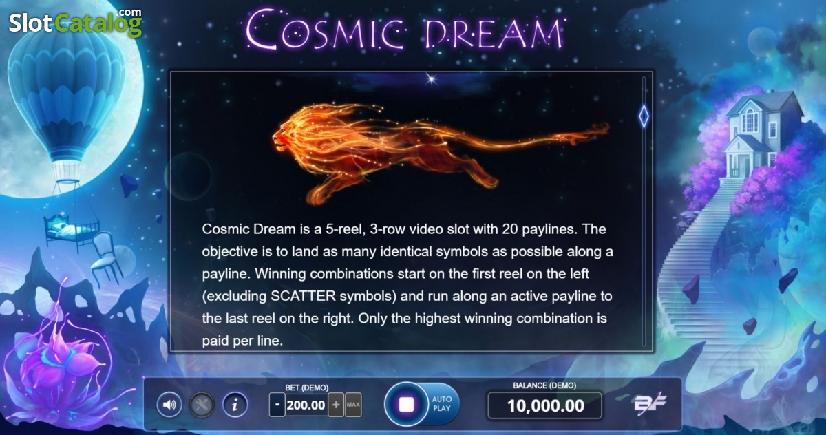 Cosmic Dream Slot Review, Bonus Codes & where to play from United Kingdom