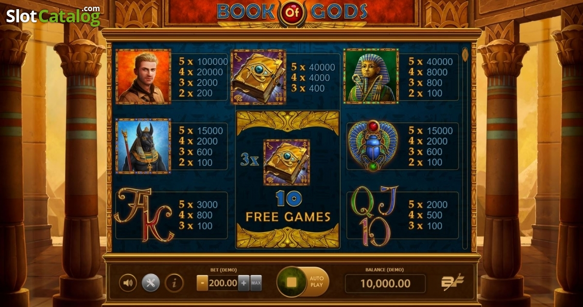 Spiele Book Of Gods (BF Games) - Video Slots Online