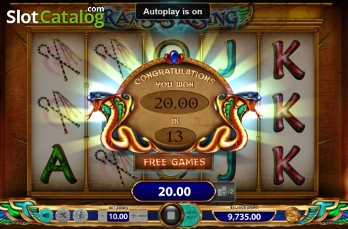 Total Win. Ramses Rising (Video Slot from BF games)