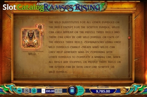 Game Rules 2. Ramses Rising (Video Slot from BF games)