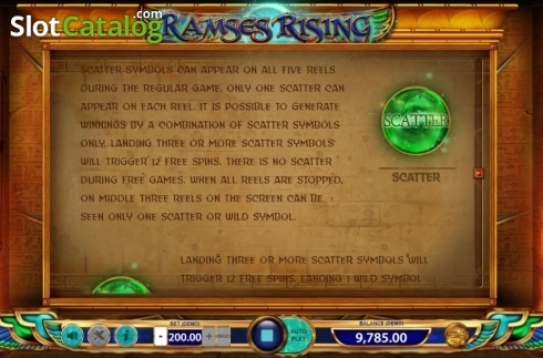 Game Rules 3. Ramses Rising (Video Slot from BF games)
