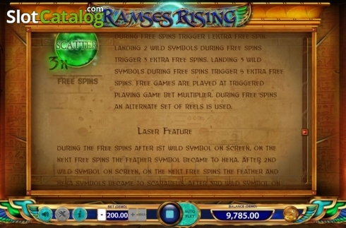 Game Rules 4. Ramses Rising (Video Slot from BF games)