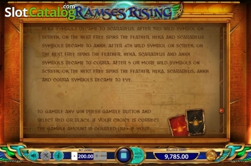 Game Rules 5. Ramses Rising (Video Slot from BF games)