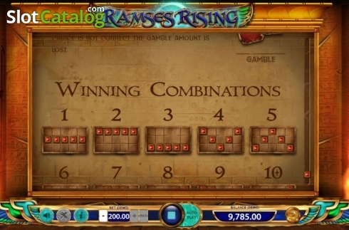 Paylines 1. Ramses Rising (Video Slot from BF games)