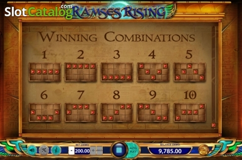 Paylines 2. Ramses Rising (Video Slot from BF games)
