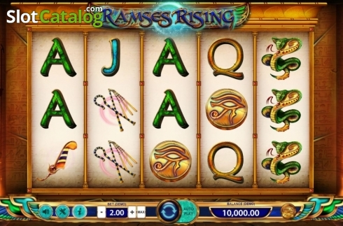 Reel Screen. Ramses Rising (Video Slot from BF games)