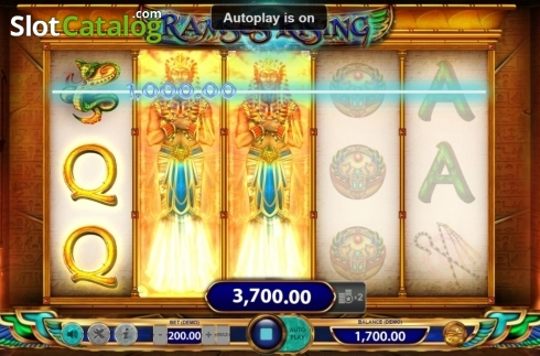 Win Screen 1. Ramses Rising (Video Slot from BF games)