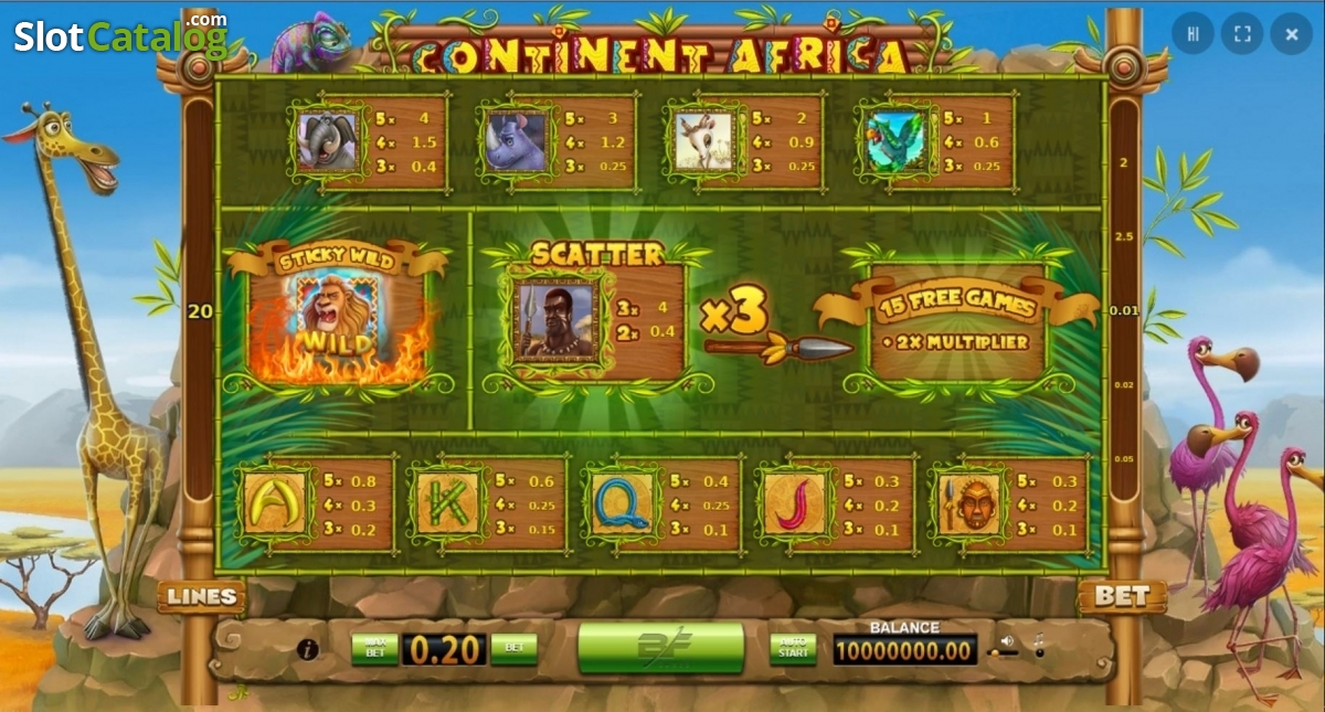 Spiele Continent Africa - Video Slots Online