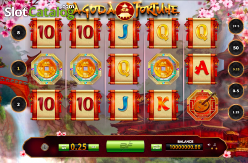 Bildschirm2. Pagoda of Fortune (Video Slot von BF games)