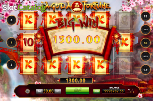 Bildschirm3. Pagoda of Fortune (Video Slot von BF games)