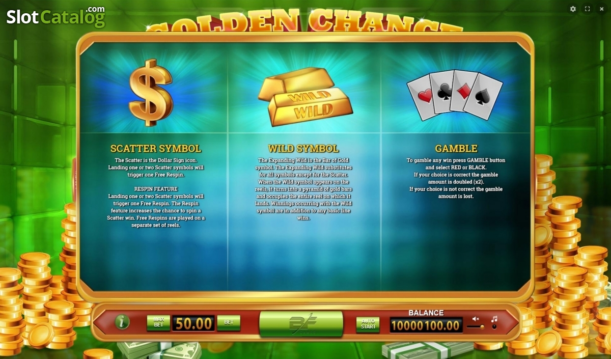 Spiele Golden Chance - Video Slots Online