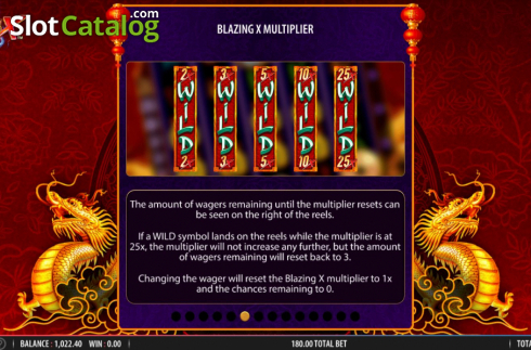 Skärm14. Blazing X (Video Slot från Bally)