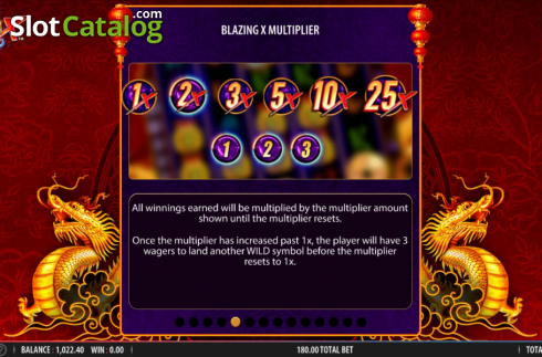 Skärm17. Blazing X (Video Slot från Bally)