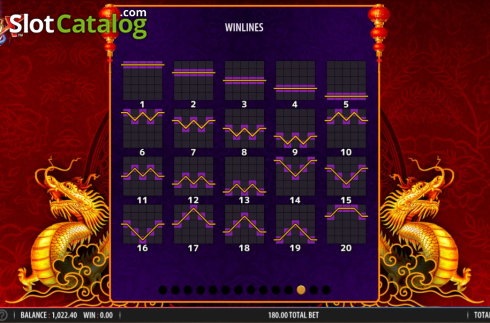 Skärm19. Blazing X (Video Slot från Bally)