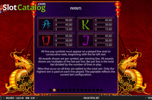 Skärm11. Blazing X (Video Slot från Bally)