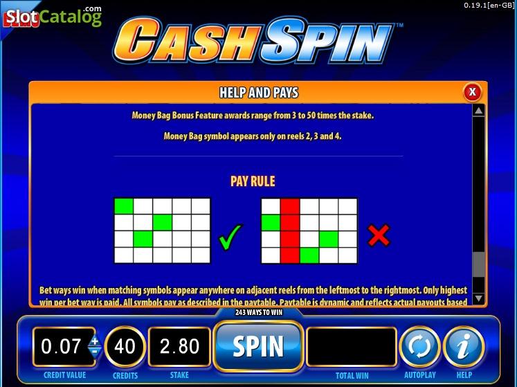 free cash spins - 2