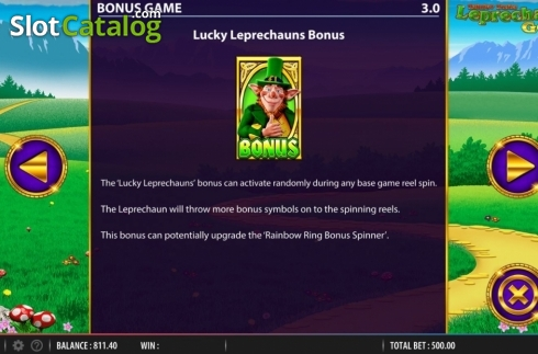 Features. Rainbow Riches Leprechauns Gold (Video Slot from Barcrest)