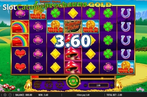 Win Screen. Rainbow Riches Leprechauns Gold (Video Slot from Barcrest)