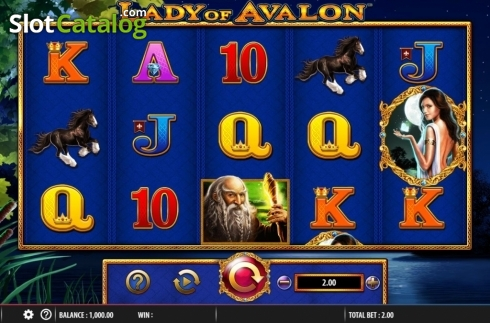 Reel Screen. Lady of Avalon (Video Slot from Barcrest)