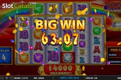 Big Win. Rainbow Riches Megaways (Video Slots from Barcrest)