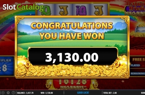 Total Win. Rainbow Riches Megaways (Video Slots from Barcrest)