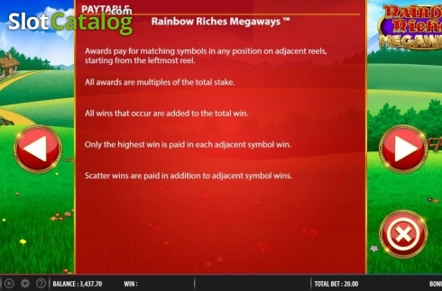 Features 1. Rainbow Riches Megaways (Video Slots from Barcrest)