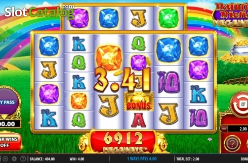Win Screen 1. Rainbow Riches Megaways (Video Slots from Barcrest)
