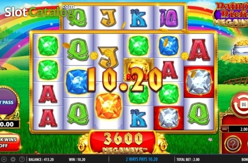 Win Screen 2. Rainbow Riches Megaways (Video Slots from Barcrest)