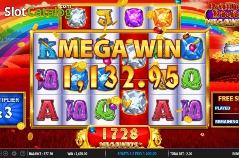 Mega Win. Rainbow Riches Megaways (Video Slots from Barcrest)
