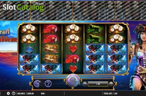 Obrazovka2. Pearl of the Caribbean (Video Slot z Barcrest)
