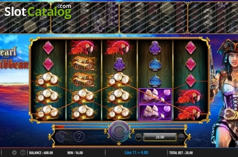 Obrazovka3. Pearl of the Caribbean (Video Slot z Barcrest)