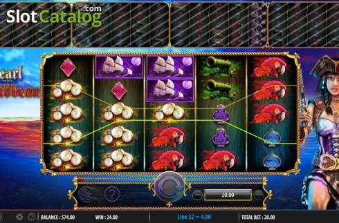 Obrazovka5. Pearl of the Caribbean (Video Slot z Barcrest)