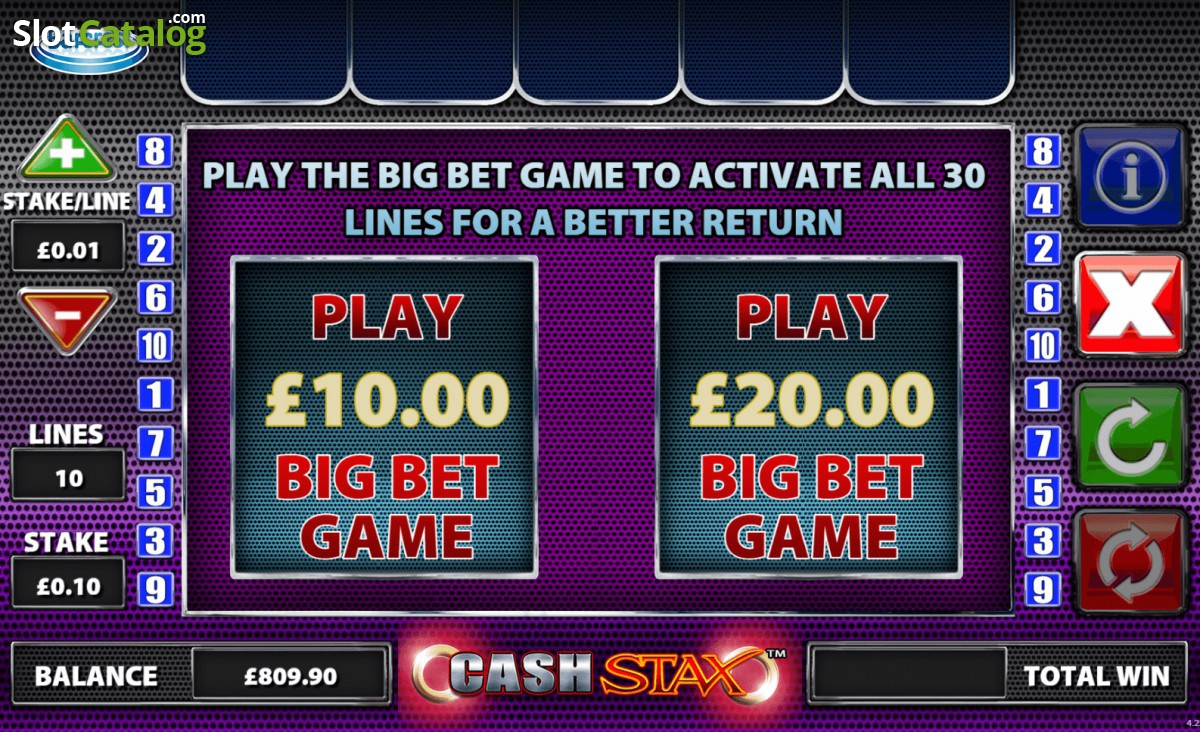 Extreme winning cash stax slot machine online barcrest free icon