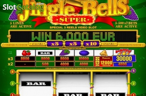 Tela5. Super Jingle Bells (Slot de video a partir de Belatra Games)