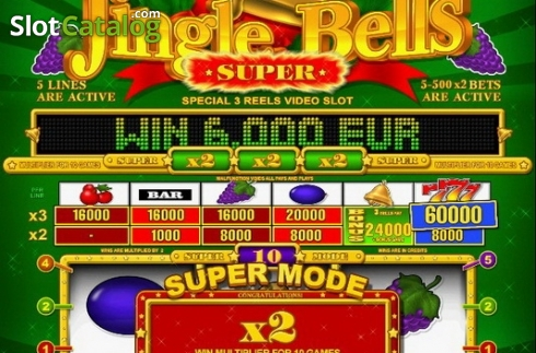 Tela7. Super Jingle Bells (Slot de video a partir de Belatra Games)