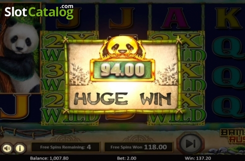 Scherm7. Bamboo Rush (Video Slot van Betsoft)