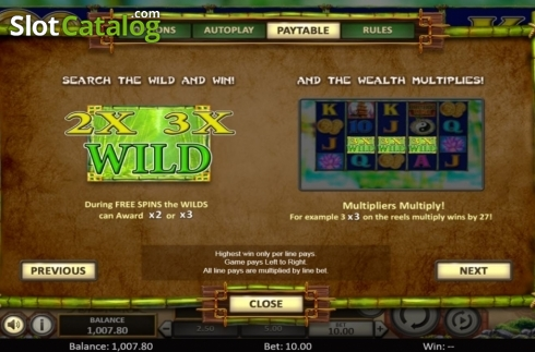 Scherm9. Bamboo Rush (Video Slot van Betsoft)